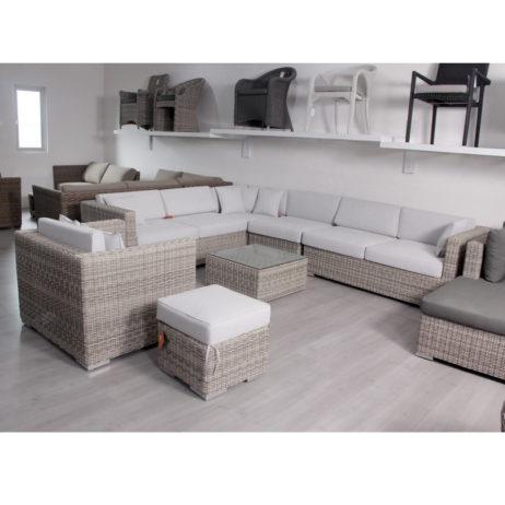 Rattan L Shape sofa