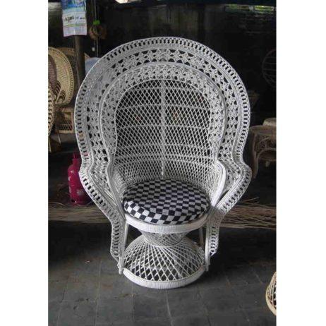 cane peacock chair