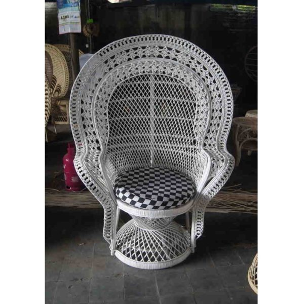 cane peacock chair