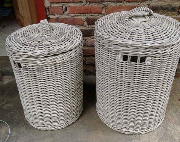 poly rattan baskets