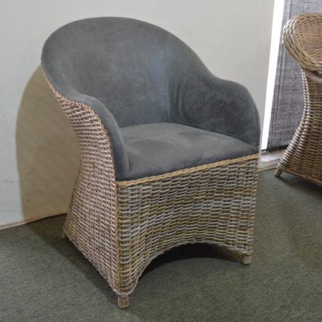 grey wicker armchair