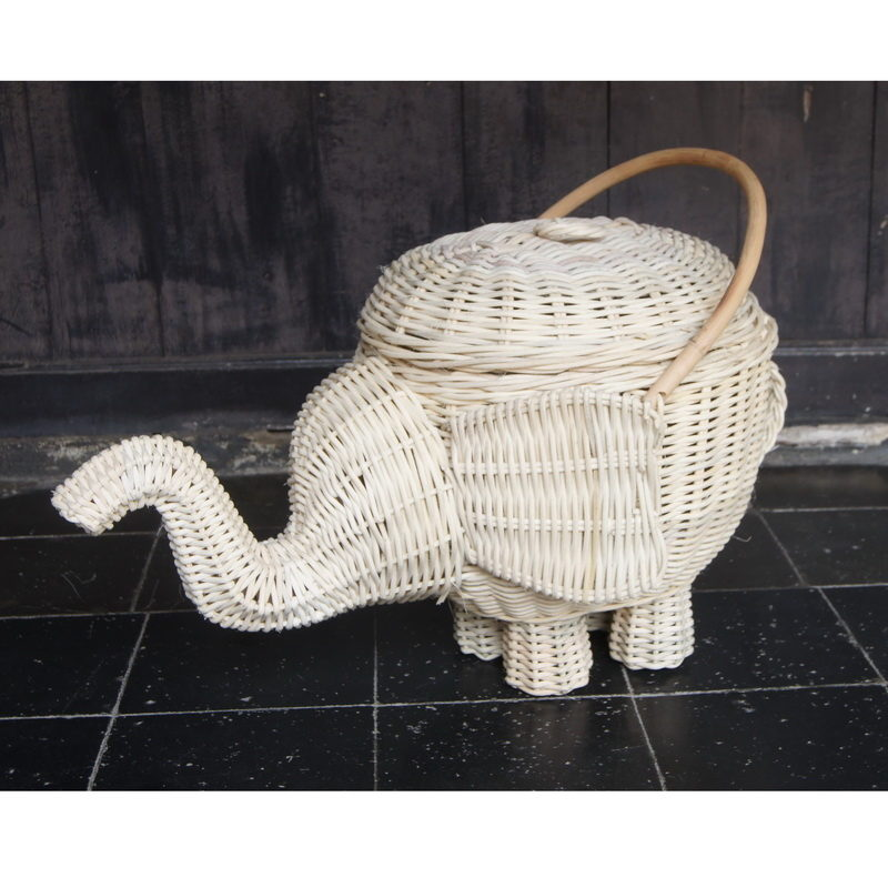 Elephant hamper 1 rattan cirebon - Elephant hamper wicker ...