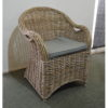 grey wicker dining chairs