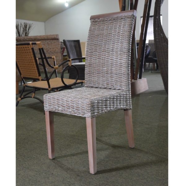 grey wash rattan dining chairs