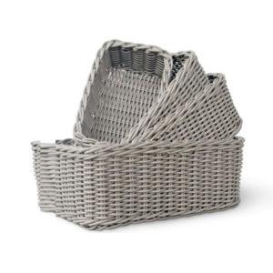Synthetic rattan basket