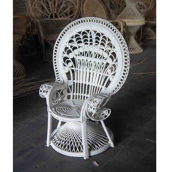 White Peacock Chair For Sale