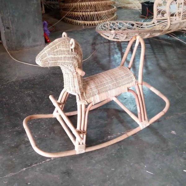 Wicker Rocking Horse