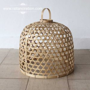 rattan basket lamp