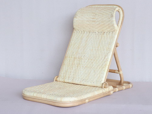 wicker folding beach chair
