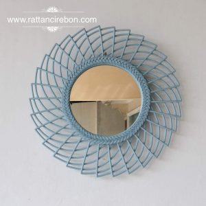 rattan framed mirrors