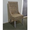 grey rattan dining chairs