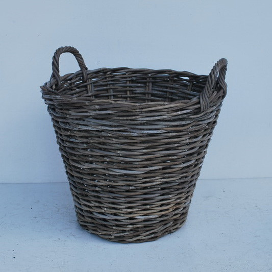 RATTAN TRASH BASKET