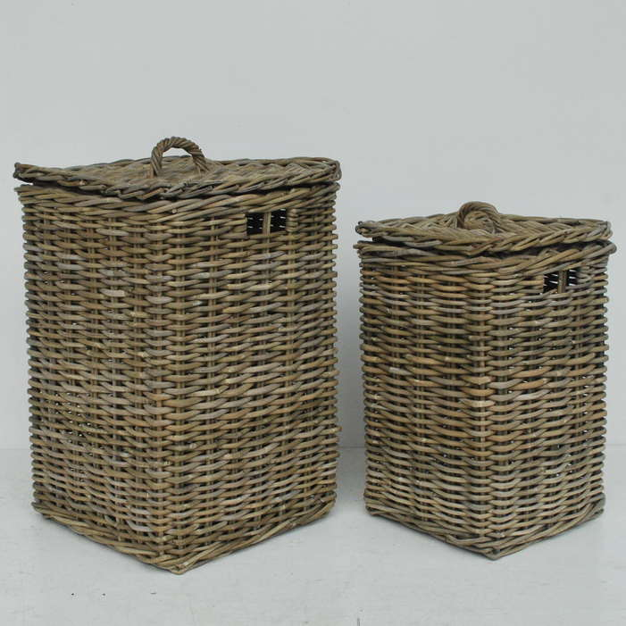 Grey Wicker Trunk