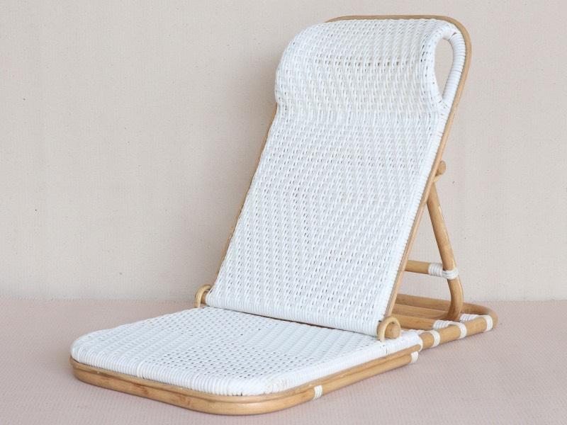 rattan beach folding chair