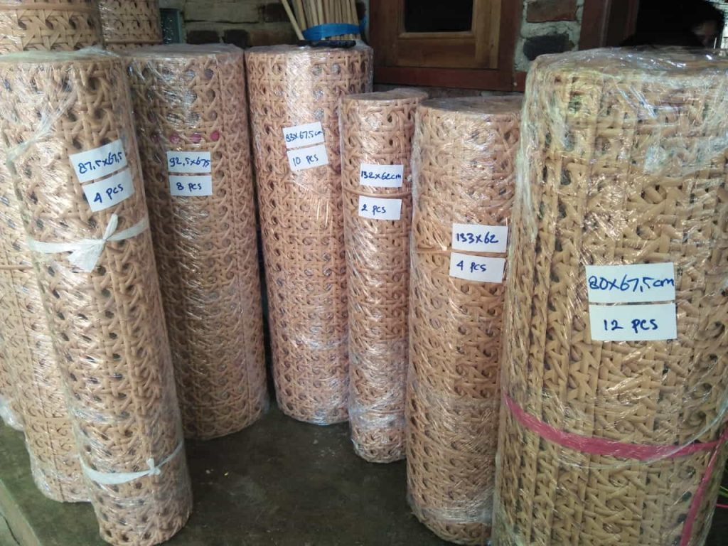 Synthetic rattan cane webbing